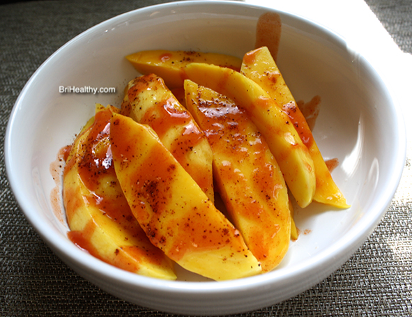 Refreshing Spicy and Sweet Mango Slices